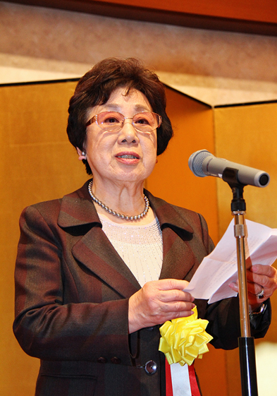 竜田和子奈良県防衛協会副会長兼て女性部連合会長